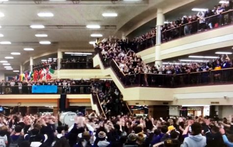 Laker Pride Shows with Vikings SKOL Chant