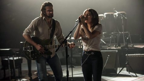 "Cooper and Gaga performing in ""A Star is Born""."